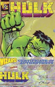Hulk Wizard 1/2 #1 (Jan-98) NM+ Super-High-Grade Hulk, Bruce Banner