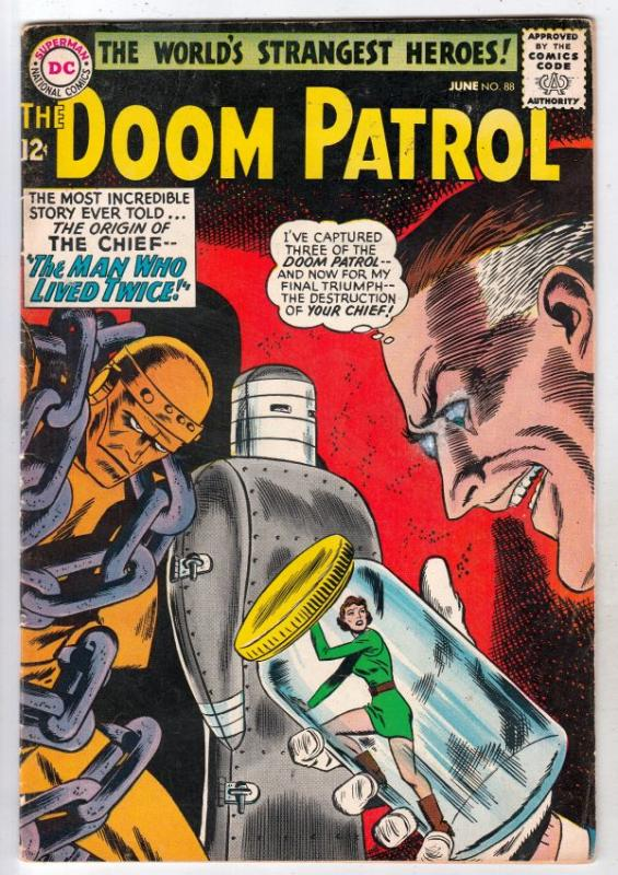 Doom Patrol #88 (Jun-64) FN+ Mid-High-Grade Proffesor, Negative Man, Elasti-W...