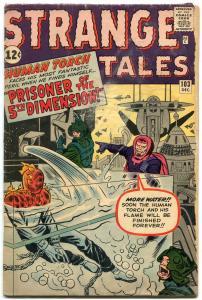 Strange Tales #103 1962- Human Torch- Jack Kirby G+