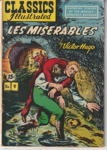 Classic Illustrated #9 (1943)  Les Miserables