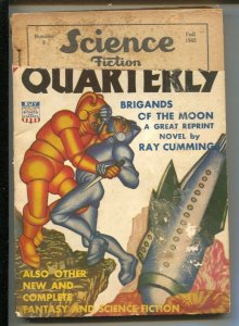 Science Fiction Quarterly-Fall 1942-Columbia-Hannes Bok cover-includes full e...