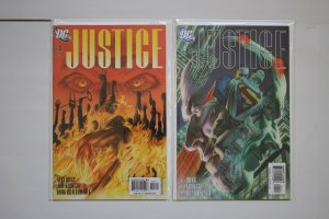 Justice 1 - 12 Complete Set Alex Ross, Jim Krueger DC Comics 2005 Series NM