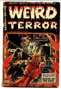 WEIRD TERROR #7 1953-DON HECK-BODY BURNING ON COVER-PCH