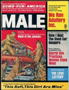 Male 3/1969-Atlas-Kunstler-tommy gun-cheesecake-pulp thrills-Pollen-Minney-FN
