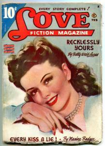 Love Fiction Pulp February 1945- Romance- Betty Webb Lucas VG+
