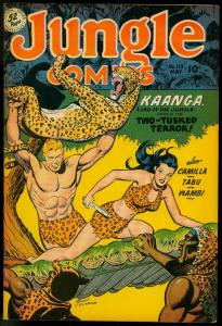 Jungle Comics #113 1949- Fiction House Kaanga- Wambi VF-