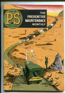 PS  THE PREVENTIVE MAINTENANCE MONTHLY #58-1957-WILL EISNER COVER-vg