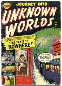 Journey Into Unknown Worlds #4 1951- Atlas Golden Age sci-fi g/vg