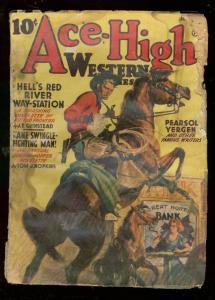 ACE-HIGH WESTERN STORIES JULY 1941-PULP-PEARSON YERGEN FR