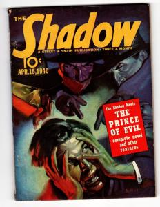 SHADOW 1940 APR 15-STREET AND SMITH Pulp Magazine