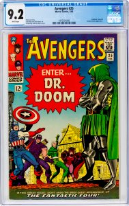 Avengers #25 CGC Graded 9.2 Fantastic Four and Doctor Doom appearance.