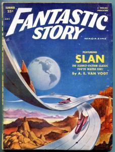 Fantastic Story Magazine Pulp Summer 1952- AE Van Vogt FN