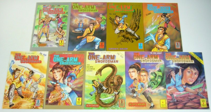 the One-Arm Swordsman #1-9 VF/NM complete series - chinese kung fu set lot