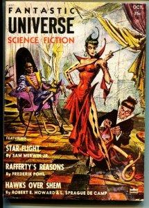 FANTASTIC UNIVERSE SCIENCE FICTION-Oct 1955-Pulp-CONAN-ROBERT E HOWARD-RARE