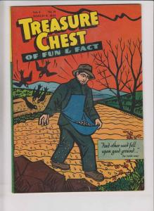 Treasure Chest of Fun & Fact vol. 4 #14 FN- march 8, 1949 - catholic comic