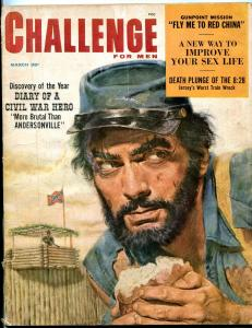 Challenge For Men Magazine March 1959-CIVIL WAR DIARY-RED CHINA G-