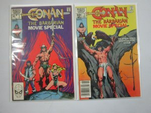 Conan the Barbarian Movie Special set #1+2 4.0 VG (1982)
