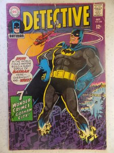 DETECTIVE COMICS # 368 BATMAN AD CUT OUT DOESN'T AFFECT STORY