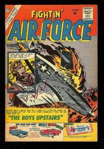 FIGHTIN' AIR FORCE #23 1960-CHARLTON WAR COMIC-GLANZMAN FN-