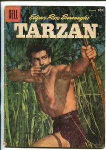 TARZAN #84-1956-DELL-GORDON SCOTT COVER- BURROUGHS- MARSH- MANNING-vg