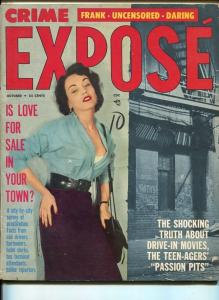 CRIME EXPOSE-OCTOBER 1957-SPICY-MURDER-KIDNAP-RAPE-good/vg G/VG