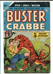 BUSTER CRABBE #3 1954-LEV GLEASON-ALEX TOTH-TARZAN-TIGER-BUCK ROGERS-good+
