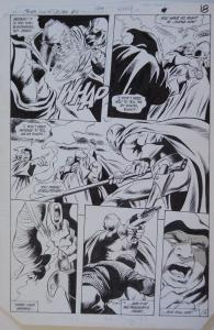 GENE COLAN / BOB McLEOD original art, JEMM SON of SATURN #10 pg 18,10x 16, 1985