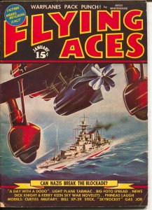 Flying Aces 1/1940-August Schomburg-Dick Knight-McWilliams-VG