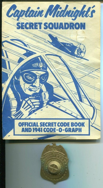 Captain Midnight Secret Squadron Membership Badge 1976-reproduction-manual-FN
