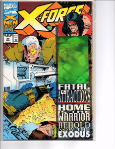 Marvel Comics X-Force Vol. 1 #25 Cable Magneto Greg Capullo Hologram Cover