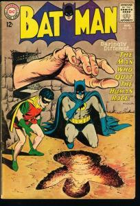 BATMAN #165-1964-DC-MAN WHO QUIT THE HUMAN RACE-very good VG