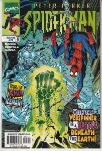Peter Parker Spiderman(vol. 2) # 3  Spidey and Iceman !