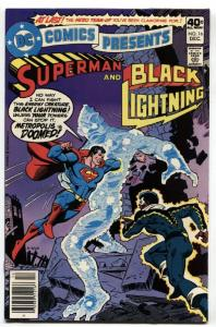 DC Comics Presents #16-comic book Black Lightning and Superman DC