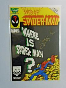 Web of Spider-Man #18 Direct 1st Series doodle sketch on cover 7.0 (1986)