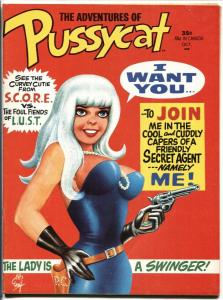 Pussycat #1 1968-Marvel Magazine-Bill Everrett-Wally Wood