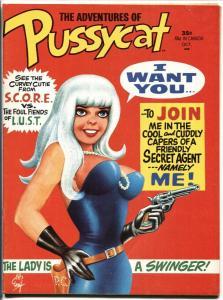 Pussycat #1 1968-Marvel Magazine-Bill Everrett-Wally Wood