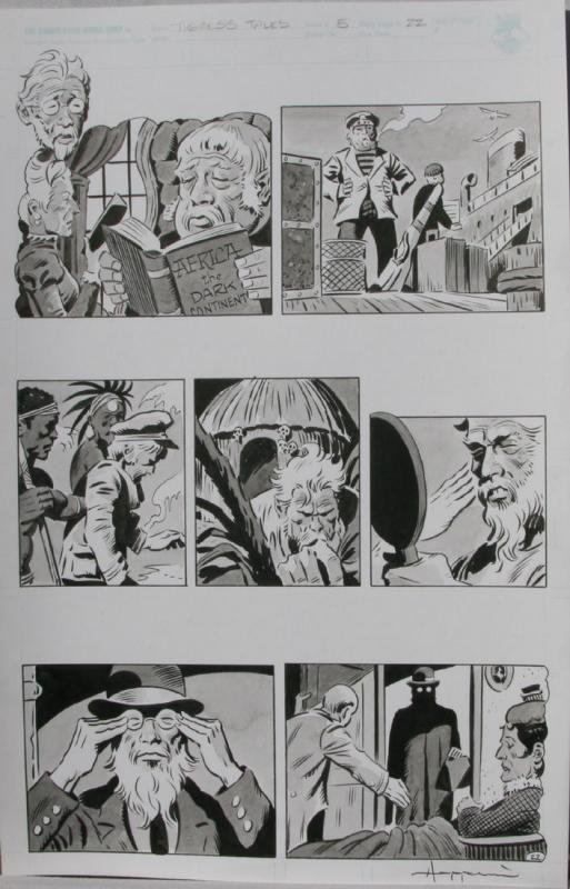 TIGRESS TALES #5 Original Mike Hoffman art, Page #22, Signed, published