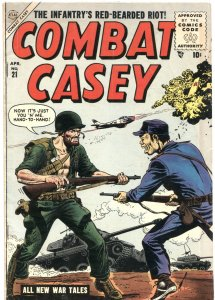 COMBAT CASEY #21-1955-SALUTE TO US 1st DIVISION-COMMIE TENNIS SHOES-WAR