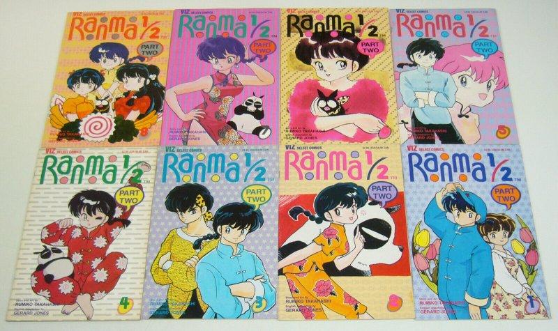 Ranma 1/2 part 2 #1-11 VF/NM complete series - viz manga - rumiko takahashi set