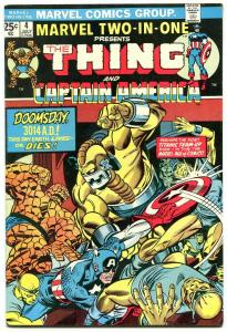 Marvel Two-In-One #4 1974- Captain America- Thing- F/VF