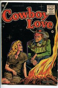 COWBOY LOVE #30 1955-CHARLTON-BLACK COVER-RARE-good/vg