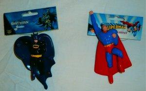 Kurt S. Adler Santa's World: BATMAN & SUPERMAN Christmas Ornaments (set of 2)