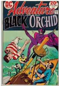 ADVENTURE 429 VG Oct. 1973 Black Orchid 2nd app