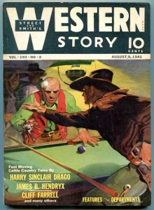 Western Story Magazine Pulp August 9 1941- Billiards cover FN