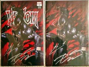 Venom #1 SIGNED BY Cates & Skan Virgin & Variant Covers Marvel BX3 w/ COA
