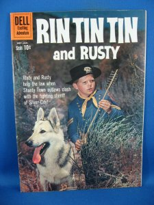 RIN TIN TIN AND RUSTY 36  VF+  PHOTO COVER HIGH GRADE 1961 TOTH