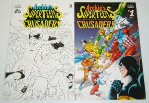 Archie's Superteens vs. Crusaders #1-2 VF/NM complete series - B variants set