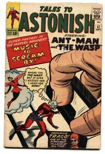 TALES TO ASTONISH #47 comic book 1963-ANT MAN-WASP-DITKO-HECK-FOX-VG