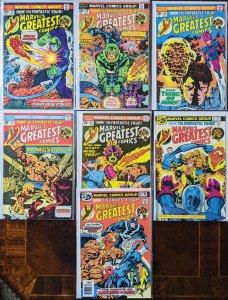 Marvels Greatest Comics Ft. The Fantastic Four! Excellent Condition! 7 book lot!