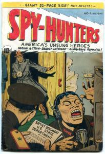 Spy-Hunters #9 1950- Commie cover- restored reading copy